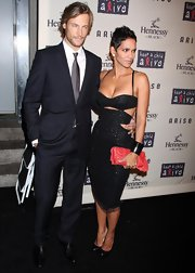 Gabriel Aubry looked hot in an all-black suit at the Keep a Child Alive Black Ball.