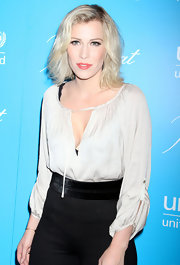 Natasha Bedingfield arrived at the 7th Annual UNICEF Snowflake Ball wearing her fluffy blond tresses casually tousled.