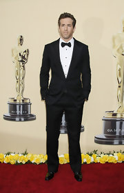 Ryan looked polished in a classic tuxedo.
