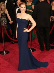 Amy Adams wore a classic navy couture Gucci gown to the 2014 Academy Awards.