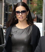 Adriana Lima showed off a pair of round shades while out and about in New York.