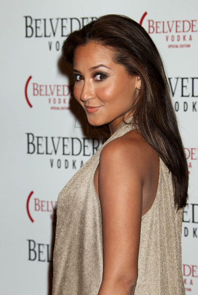 Adrienne Bailon Hair Celebrities attend the Belvedere Red launch party at