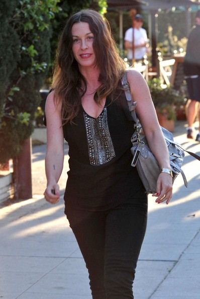 Alanis Morissette Leather Shoulder Bag