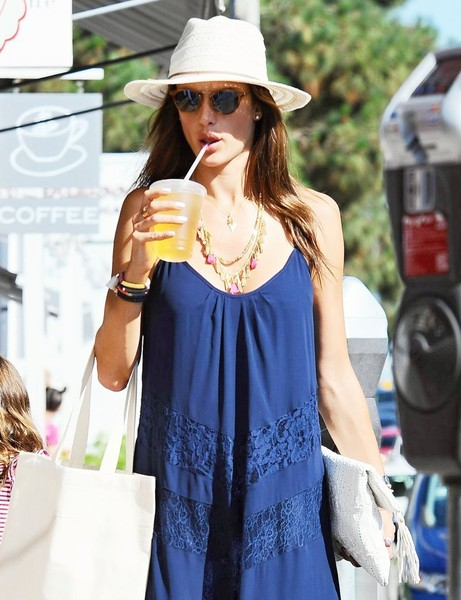 Alessandra Ambrosio Layered Beaded Necklace