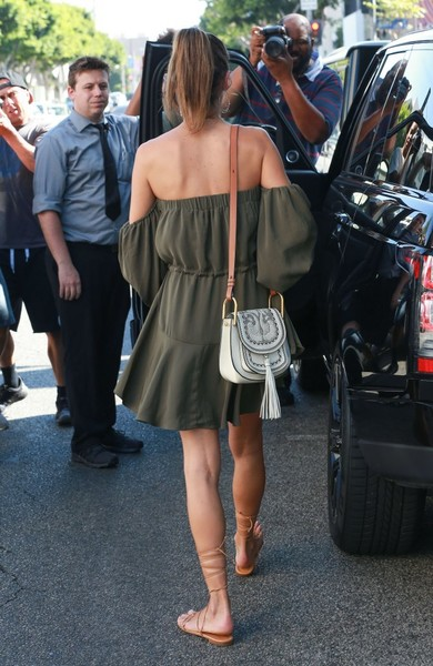 More Pics of Alessandra Ambrosio Off-the-Shoulder Dress (1 of 45) - Alessandra Ambrosio Lookbook - StyleBistro