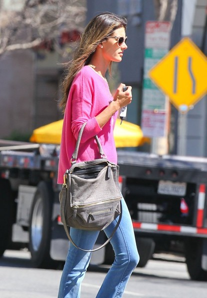 More Pics of Alessandra Ambrosio Crewneck Sweater (1 of 9) - Crewneck Sweater Lookbook - StyleBistro