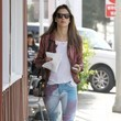Alessandra Ambrosio's Spray-Paint Pants
