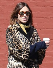 Alexa Chung went retro with these Gucci cateye sunnies while out on a coffee run.