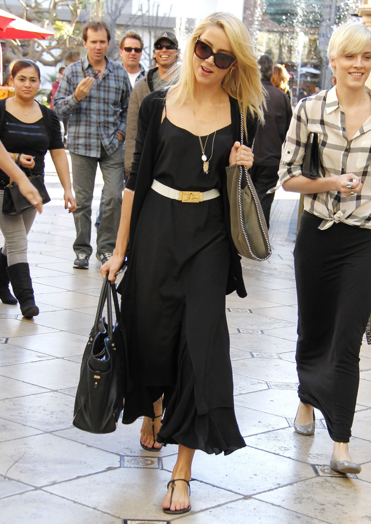 More Pics of Amber Heard Maxi  F(x) Amber Dress