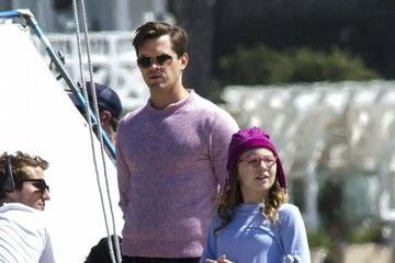 Andrew Rannells Bebe Wood Scenes From the 'The New Normal' Set