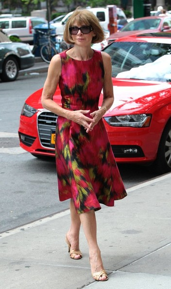 More Pics of Anna Wintour Print Dress (1 of 7) - Anna Wintour Lookbook - StyleBistro