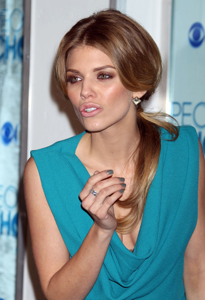 AnnaLynne McCord Neutral Nail Polish