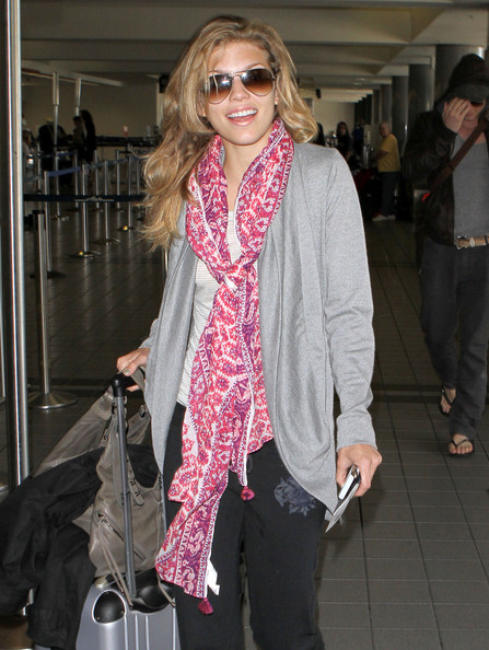 AnnaLynne McCord Patterned Scarf