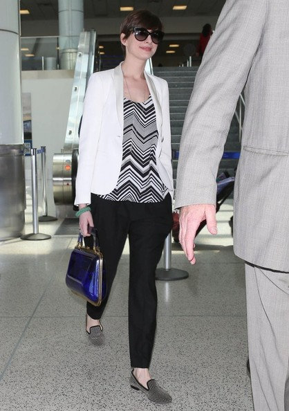 Anne Hathaway Print Blouse