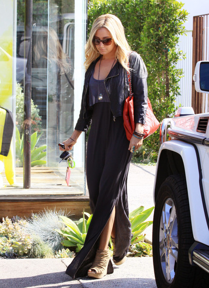 Ashley Tisdale Cutout Boots