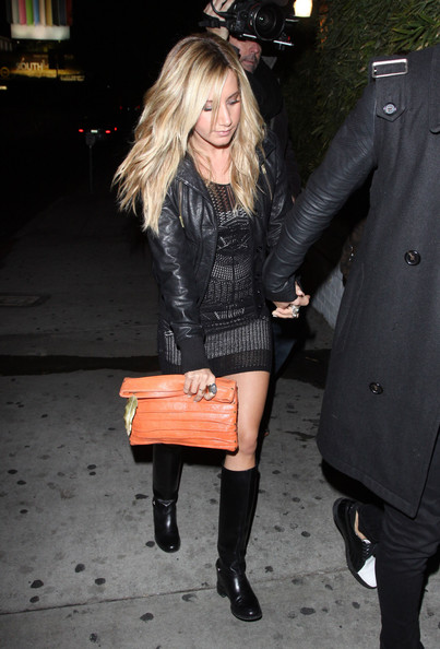 Ashley Tisdale Leather Clutch