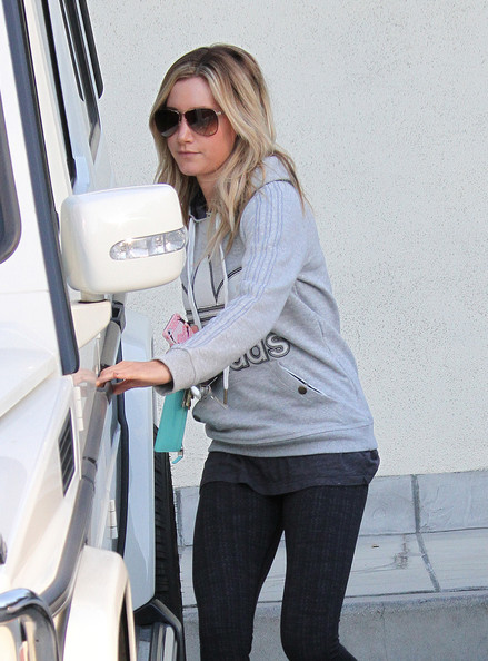 More Pics of Ashley Tisdale Studded Boots (2 of 8) - Ashley Tisdale Lookbook - StyleBistro