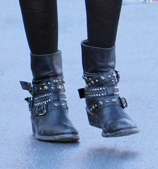 More Pics of Ashley Tisdale Motorcycle Boots (1 of 39) - Ashley Tisdale Lookbook - StyleBistro