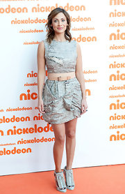 Natalie Imbruglia sported the deconstructed look at the Australian Nickelodeon Kids' Choice Awards with this ripped gray mini dress.