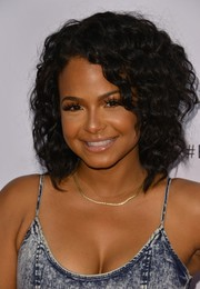 Christina Milian looked fab with her tight curls during Beautycon LA 2016.