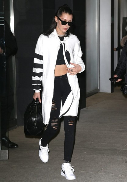 Bella Hadid Leather Sneakers