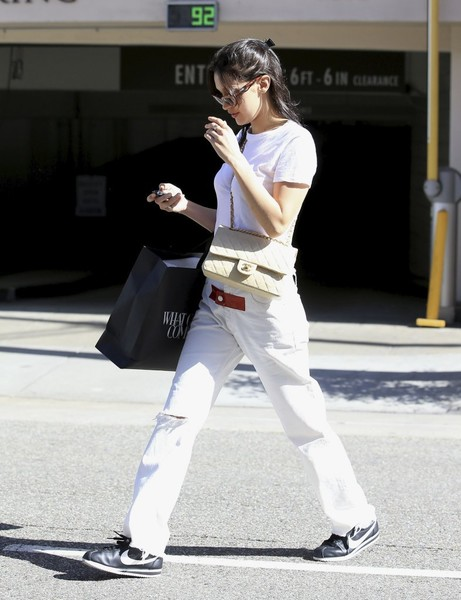 Bella Hadid Quilted Leather Bag