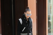 Bella Hadid Leather Pants