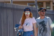 Bella Thorne Leather Sneakers