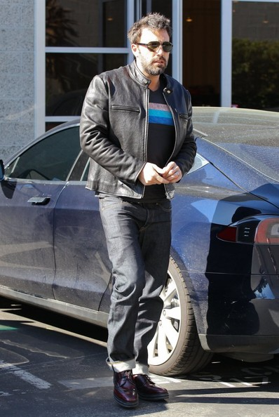More Pics of Ben Affleck Motorcycle Jacket (1 of 12) - Ben Affleck Lookbook - StyleBistro