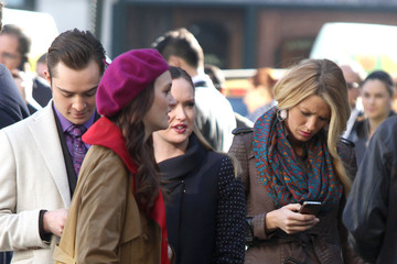 "Blake Lively Ed Westwick Blake Lively Films ""Gossip Girl"" in NYC"