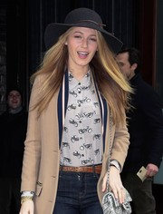 Blake Lively was summer-chic in her black Rag & Bone sun hat while out and about in New York City.