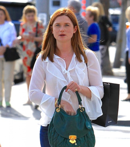 More Pics of Bonnie Wright Suede Hobo  (1 of 8) - Suede Hobo  Lookbook - StyleBistro []