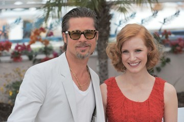 "Brad Pitt Jessica Chastain 64th Annual Cannes Film Festival - ""The Tree Of Life"" Photo Call 3"