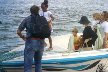 Brad Pitt Zahara Jolie Pitt Brad Pitt & Angelina Jolie Take The Family On A Boat Ride