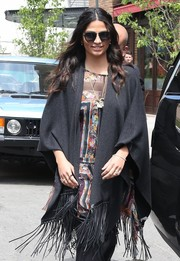 Camila Alves wore roundish sunglasses for a sunny day out.