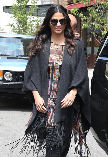 Camila Alves Round Sunglasses