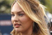 Candice Swanepoel Half Up Half Down
