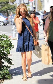 Cat Deeley was a cutie in her blue baby doll dress by Splendid while out in Beverly Hills.