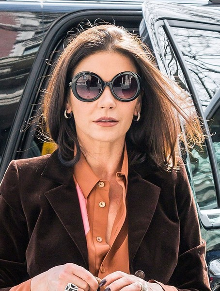 Catherine Zeta-Jones channeled Jackie O with these oversized sunnies while out in New York City.