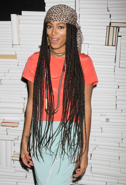 More Pics of Solange Knowles Long Braided Hairstyle (5 of 5) - Long Braided Hairstyle Lookbook - StyleBistro