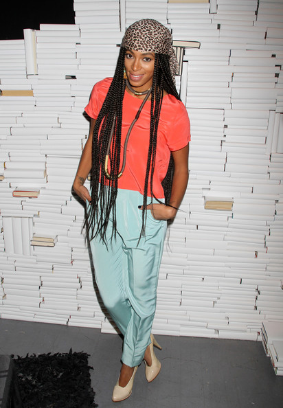 More Pics of Solange Knowles Long Braided Hairstyle (2 of 5) - Long Braided Hairstyle Lookbook - StyleBistro