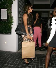 La La Anthony was out and about in West Hollywood carrying a classic black quilted bag by Chanel.
