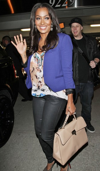 More Pics of La La Anthony Leather Tote (1 of 3) - La La Anthony Lookbook - StyleBistro