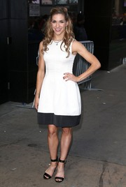 Allison Holker chose a simple yet sweet black-and-white cocktail dress for her appearance on 'GMA.'