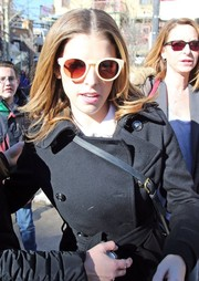 Anna Kendrick kept her eyes protected with a pair of white-framed round sunnies while out and about during Sundance.