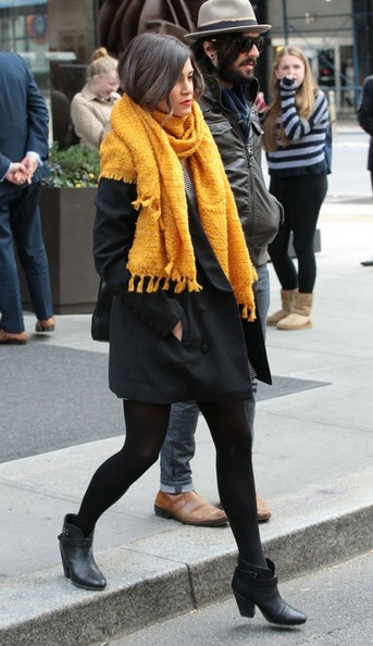 Try Nikki Reed's Punchy Cold Weather Color Combo
