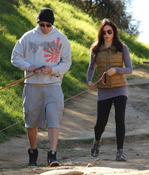 Channing Tatum and Jenna Dewan Take a Hike With Their Dogs