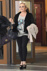 Charlene Tilton wore a pair of leggings while out and about at the ITV Studios.