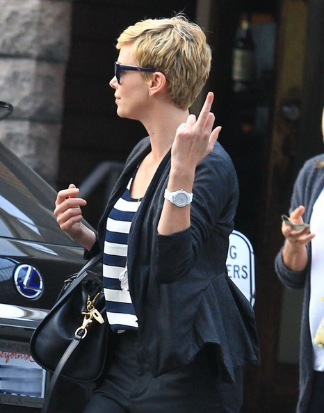 More Pics of Charlize Theron Blazer (2 of 12) - Charlize Theron Lookbook - StyleBistro