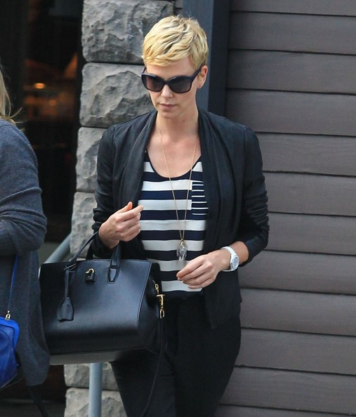 More Pics of Charlize Theron Blazer (5 of 12) - Charlize Theron Lookbook - StyleBistro